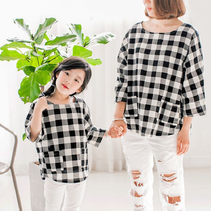 2016 Family clothes for mother and daughter summer classic plaid blouse clothing Summer parent-child suit family clothes t shirt #>=#>=#>=#>=#> Click on the pin to check out discount price, color, size, shipping, etc. Save and like it!