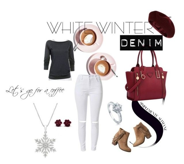 """""""Snowflake coffee"""" by sandigs on Polyvore featuring Martha Stewart, American Vintage, Under Armour, maurices, Accessorize, BERRICLE and winterwhite"""
