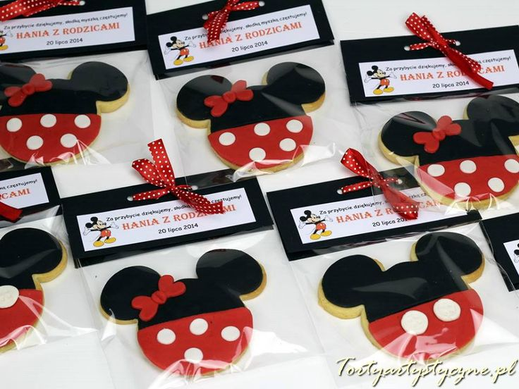 Ciasteczka Myszka Miki http://tortyartystyczne.pl/ciasteczka/recznie-dekorowane/