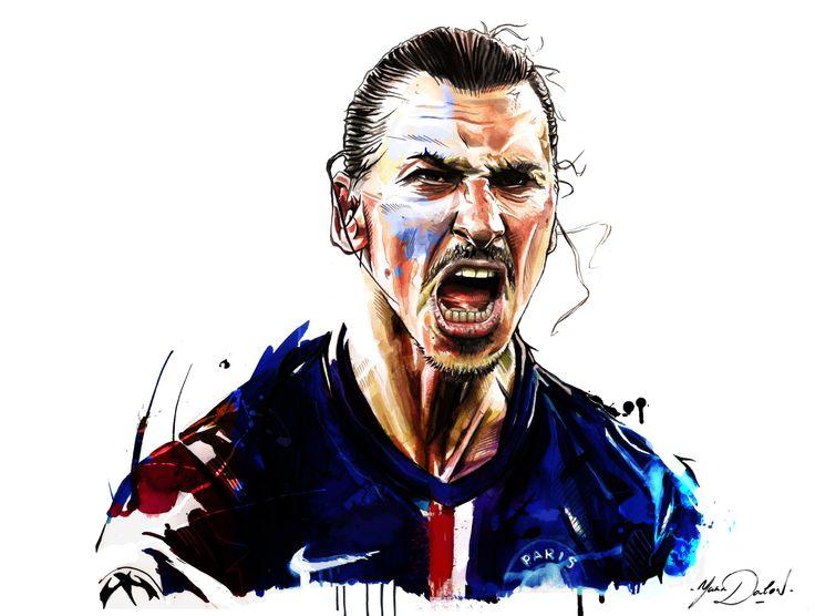 "yann-dalon-illustrateur: ""Mon illustration de #zlatanIbrahimovic ! """