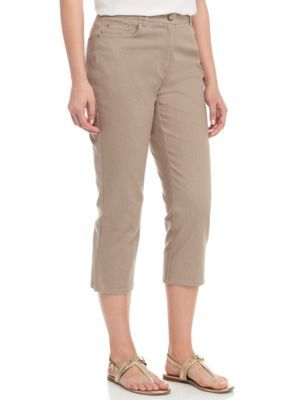 Ruby Rd Women's Coconut Cove Denim Capri -  - No Size