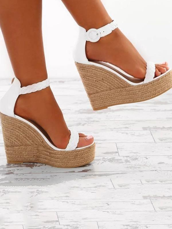 8afd47581 Fashion Wedge High-heel Sandal Shoes #SandalsHeels   Sandals Heels ...