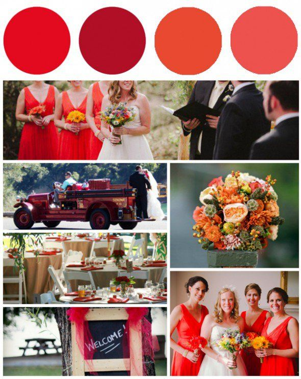 poppy bridesmaid dresses | Poppy Color Palette Inspiration