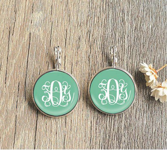 how to make monogram earrings