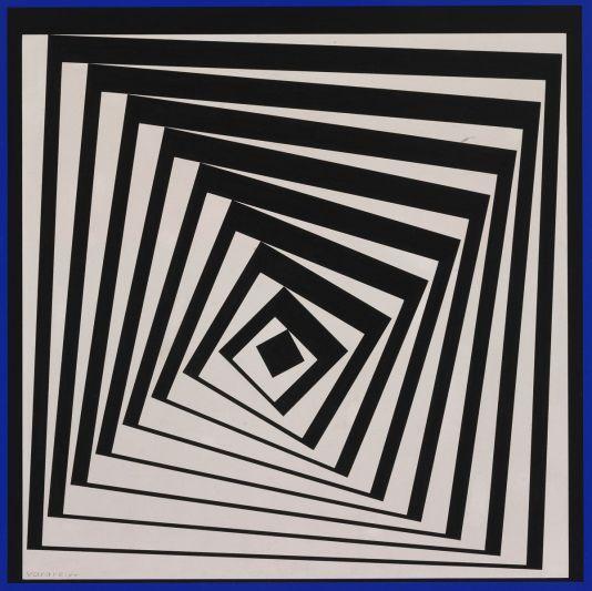 Victor Vasarely, Pavo II, 1979. Pintura. Museo de Bellas Artes de Budapest