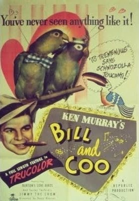 "Bill and Coo     WATCH FULL MOVIE Free - George Anton -  Watch Free Full Movies Online: SUBSCRIBE to Anton Pictures Movie Channel: www.YouTube.com/AntonPictures   Keep scrolling and REPIN your favorite film to watch later from BOARD: http://pinterest.com/antonpictures/watch-full-movies-for-free/      The feathered residents of Chirpendale are terrorized by an evil black crow by the name of ""The Black Menace"". But to the citizen's rescue comes a brave young taxi puller named Bill!"