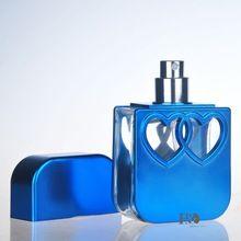 Бесплатная доставка Темно-Синий Пустые Флаконы для духов с Формы Сердца Аромат Распылитель Спрей Многоразового Бутылки Серии из Шести(China (Mainland))