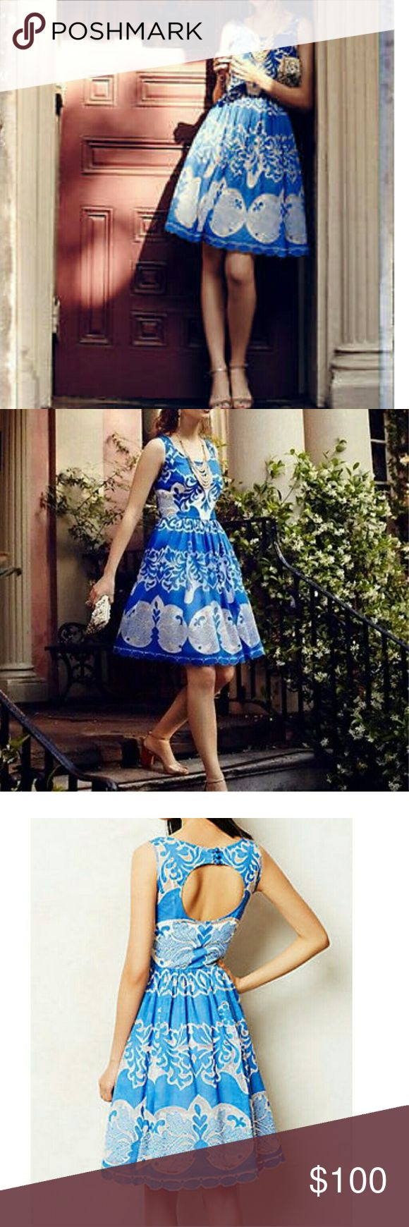 Plenty by tracy reese blue lace dress Absolutely gorgeous azure blue lace dress from Anthropologie by Tracy Reese. Pre-owned, very good condition! Tracy Reese Dresses