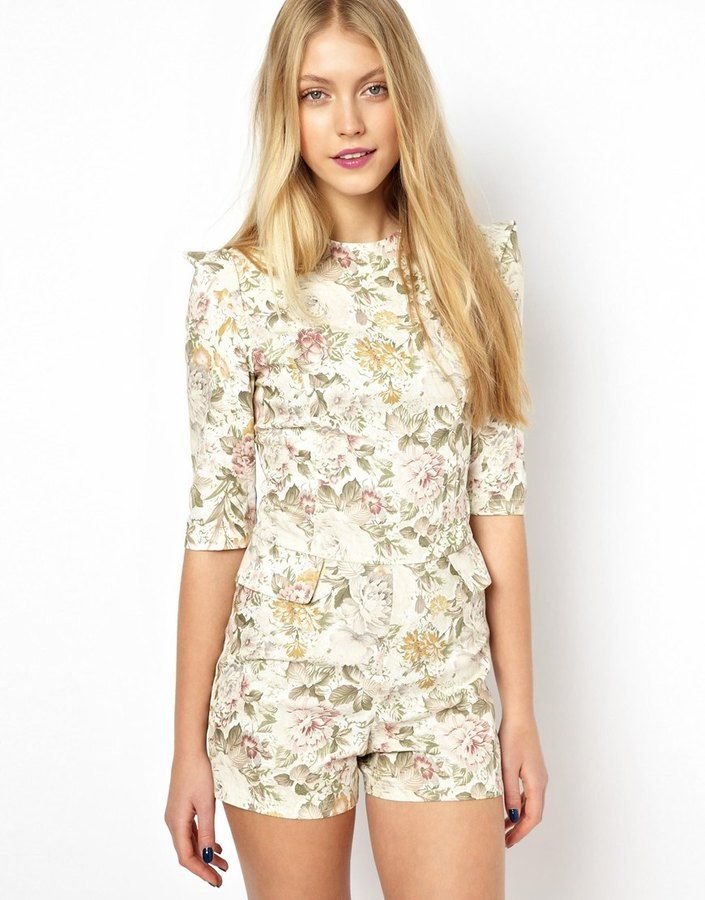 Lavish Alice Vintage Floral Playsuit