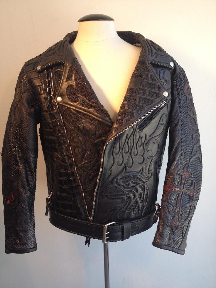 Custom mens leather jackets