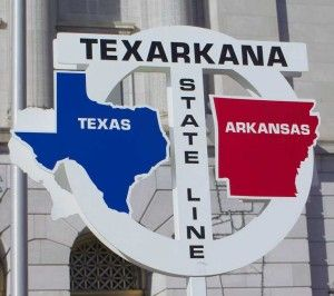 Texarkana ~ A city in two states...partly in Bowie County, Texas, and partly in Miller County, Arkansas...Named for the tri-state area of TEXas, ARKansas, and LouisiANA where it is situated.