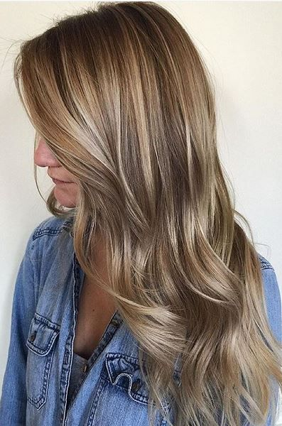 beige balayage highlights , natural and beautiful hair color idea