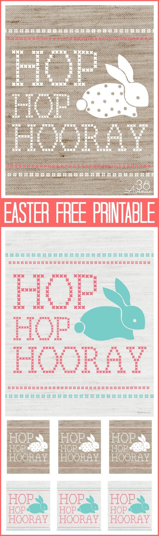 Adorable FREE Easter Printables @The 36th Avenue .com #easter #printable