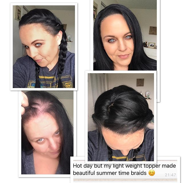 J. EVANS using her 4x5 to add extra hair thickness more compact natural looking parting and more style options. Flat natural and discreet! #perfectfri...