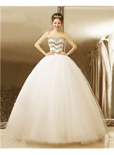 Natural Elegant & Luxurious Summer Ball Gown Winter All Sizes Beading Hall Wedding Dress