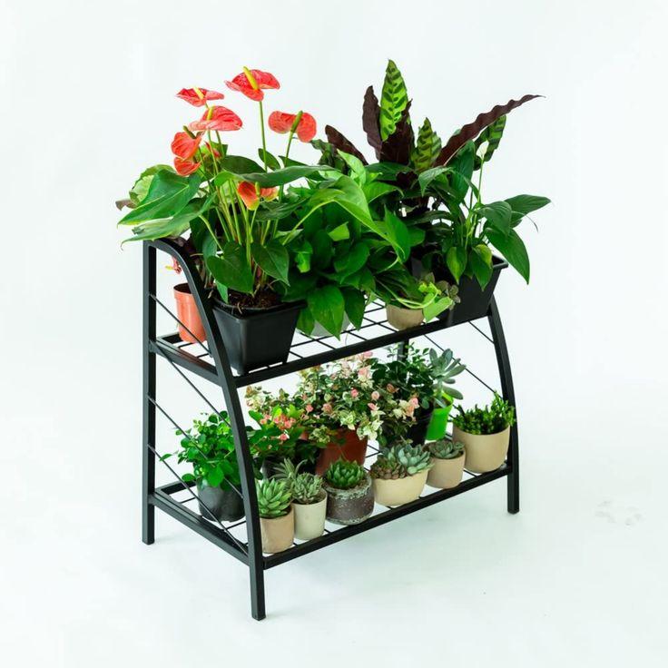 Chopetree metal plant stand indoor outdoor pot rack2
