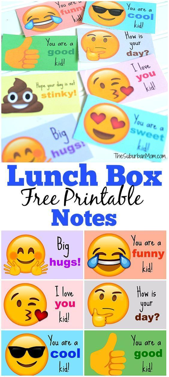 Send your kids back to school with emoji lunch box notes  It
