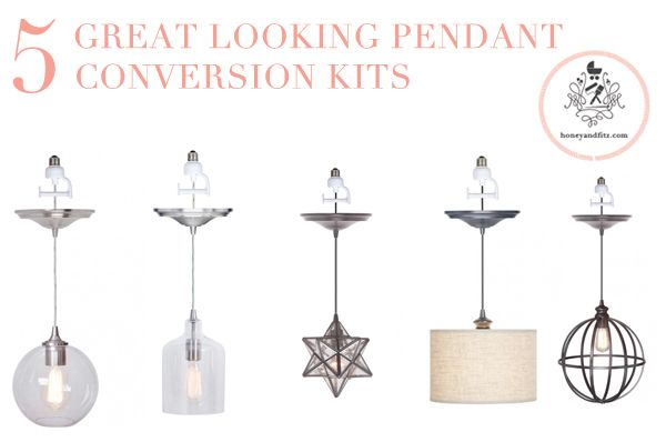 Spotted: Our pendant conversion kits on @Dina @ Honey & Fitz 's blog. We love how these guys can turn any recessed light into a gorgeous fixture.
