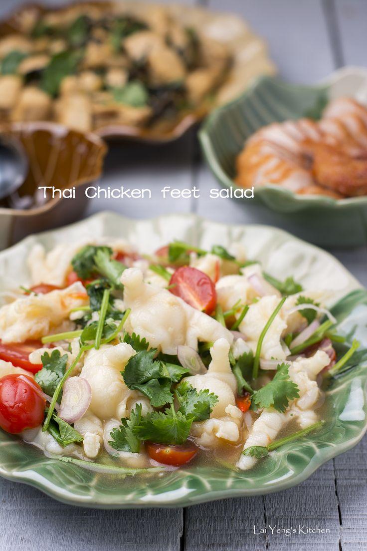 Thai chicken feet salad