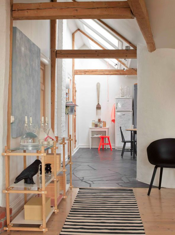 The view from the hallway into the kitchen. Silje Eriksen sells her ceramics through Hviit and photographs her home on her blog This Is.