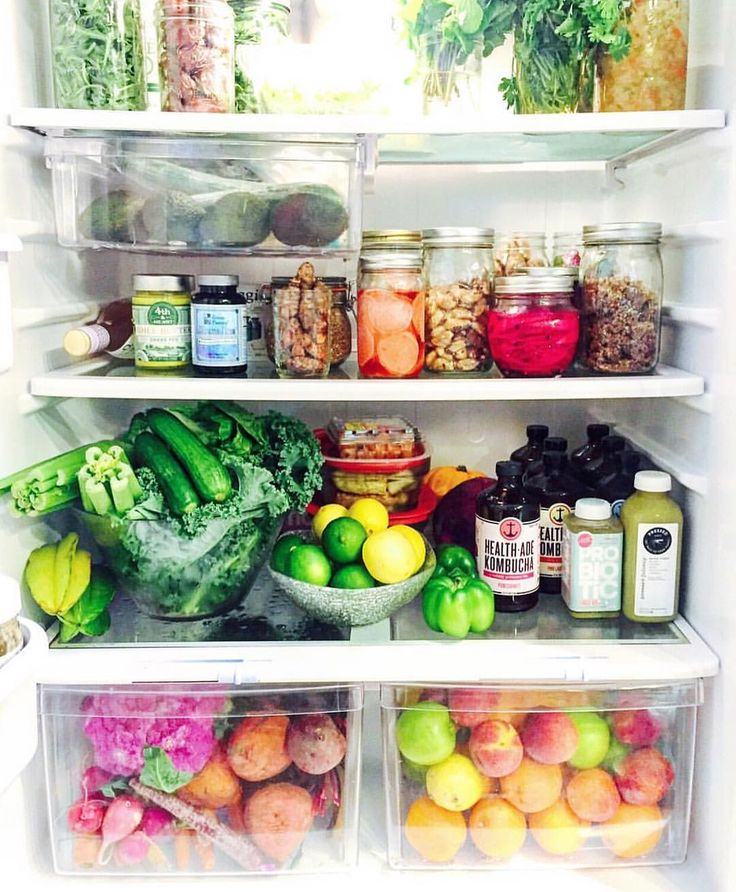 "966 Likes, 24 Comments - Health-Ade Kombucha (@healthade) on Instagram: ""The fridge of our dreams, courtesy of @vibrantandpure! Talk about #REALFOOD & #CLEANEATS.  What do…"""