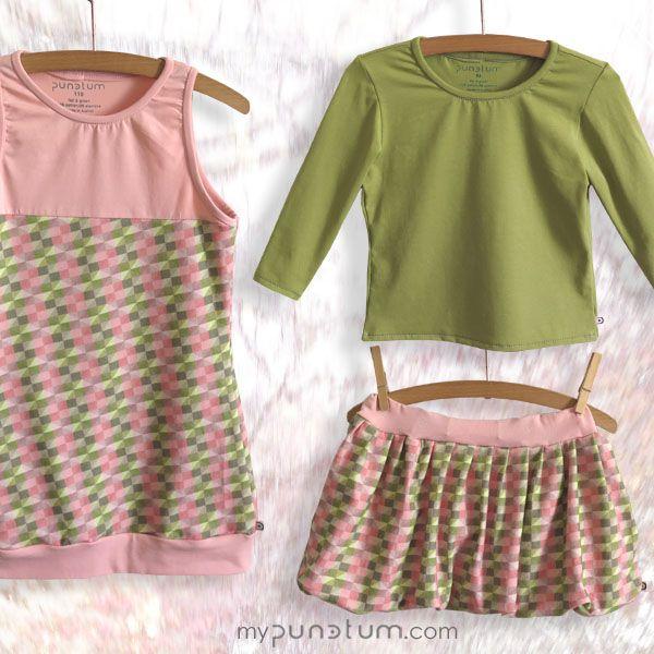 Schönen Montag! Wir haben mal wieder für euch in unserer Kollektion gestöbert & einige Lieblingsvariationen ausgewählt. Was haltet ihr von Kleid AENNA oder Rock ALMINA kombiniert mit unserem hellgrünen Longshirt?  www.mypunctum.com