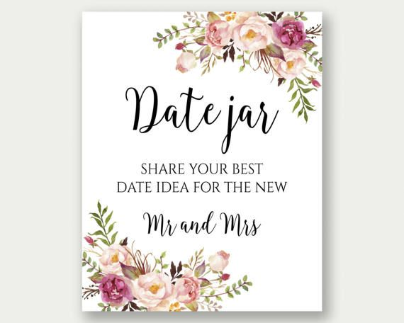 Date Jar Sign Date Night Jar Date Night Sign Date Night