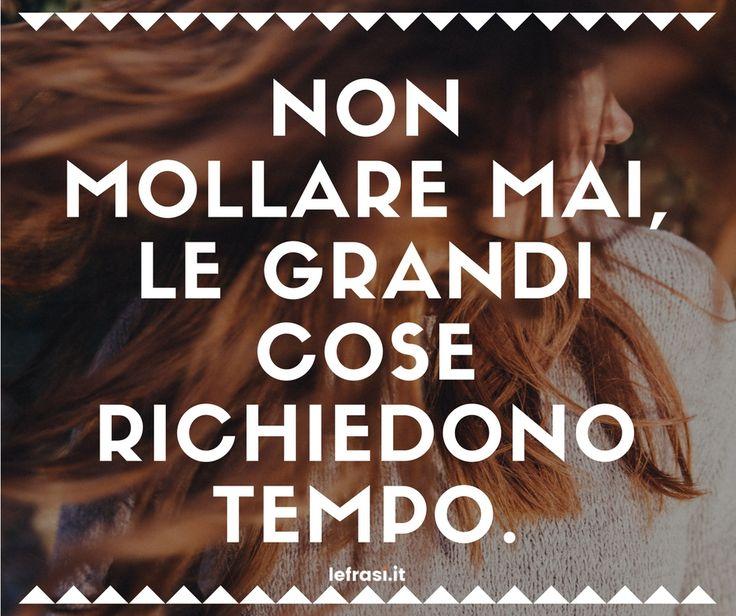 Non mollare mai, le grandi cose richiedono tempo.  http://www.lefrasi.it/frase/non-mollare-mai-le-grandi-cose-richiedono-tempo/  #frasi #motivazionali #motivazione #quote #aforismi #frasibelle