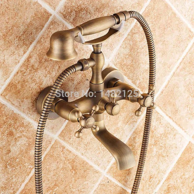 Find More Bath U0026 Shower Faucets Information About Luxury Antique Brass Wall  Mounted Bathtub Faucet,
