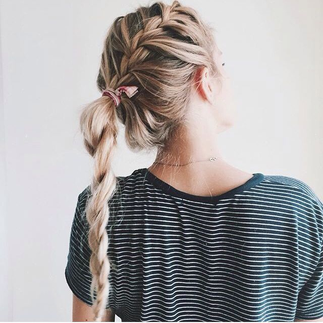 French braid pony #hair