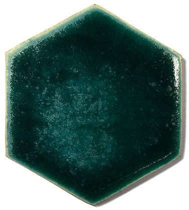Blue Ceramic Handmade Wall & Floor Tile - Hexagon, glaze Nautilius