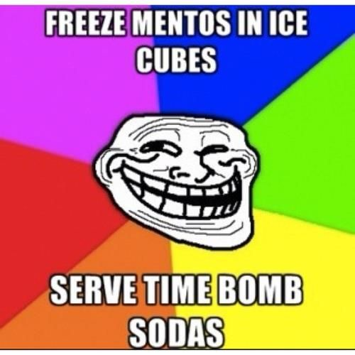 =): Time Bombs, Idea, Ice Cubes, Bombs Sodas, Stuff, April Fools Day, Outdoor Parties, April Fools Jokes, Funny Pranks