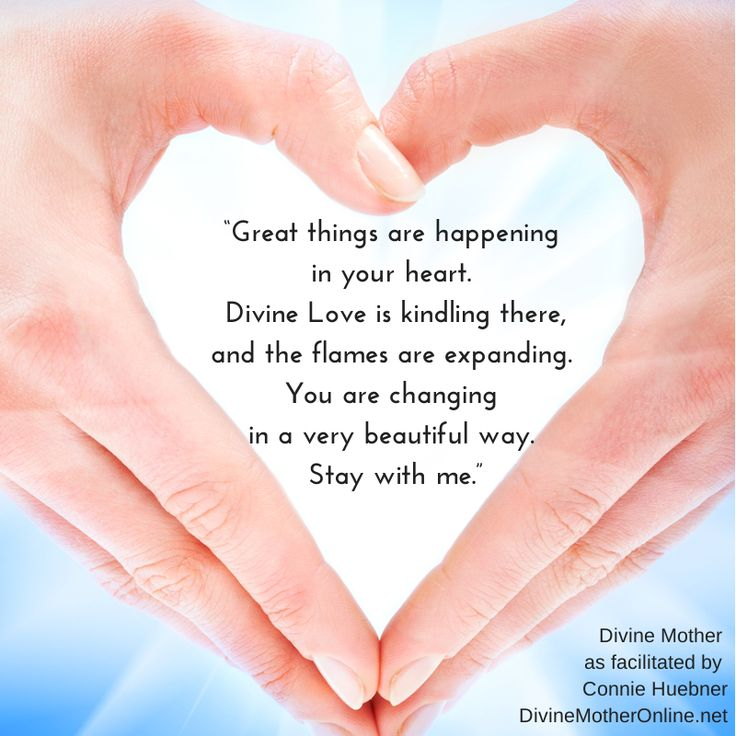 "Divine Love Quotes: ""Great Things Are Happening In Your Heart. Divine Love Is"