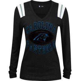 5th & Ocean Women's Carolina Panthers Tri-Blend Black Long Sleeve Shirt   DICK'S Sporting Goods