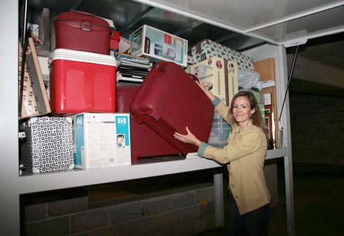 Neat garage storage system. #spacecommander