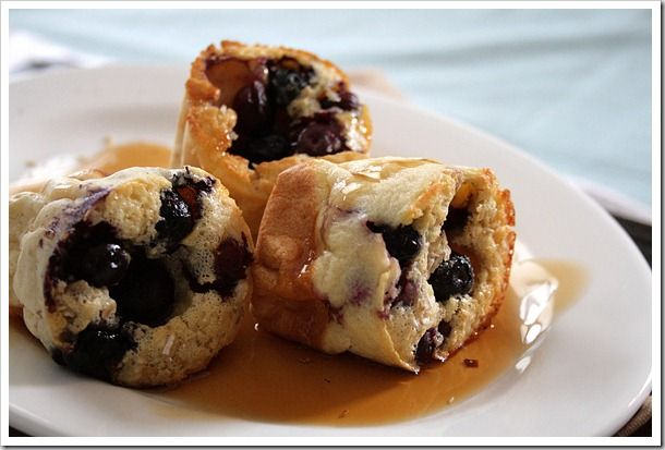 Blueberry Oatmeal Popovers...Think blueberry muffin, with streusel ...