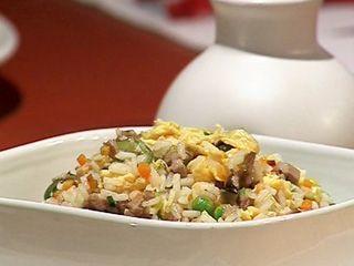 Arroz al wok con char siu