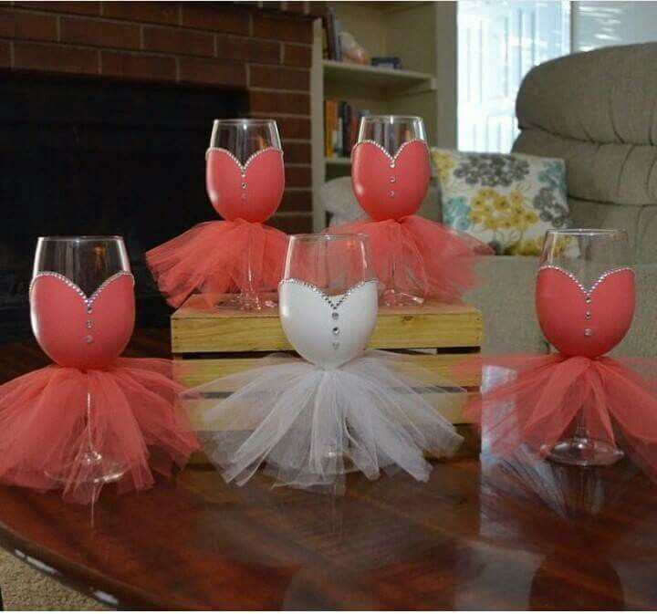 Get your drink on and your craft on with these DIY wine glasses for the Bride and her besties! #wedding #bride #bridesmaid  {Photo via: K. Joy}