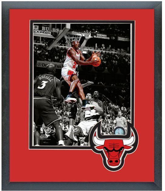 "Michael Jordan Bulls Circa 1997-11"" x 14"" Framed/Matted ""Spotlight Action Photo"""