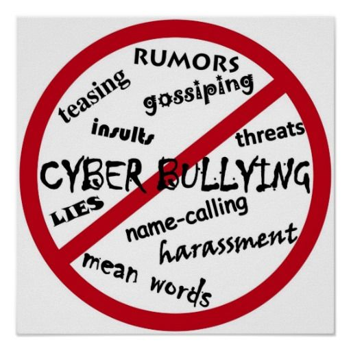 Stop Cyber Bullying Posters- great for in the classroom                                                                                                                                                                                 More