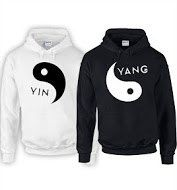 Yin Yang Hoodies 1 BLACK 1 WHITE - Small - 5XL Add Custom Text or Names On Backs His and Hers Ying and Yang Couples Hoodies by StraightWholesale on Etsy