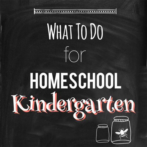 What to Do for Homeschool Kindergarten - Hip Homeschool Moms