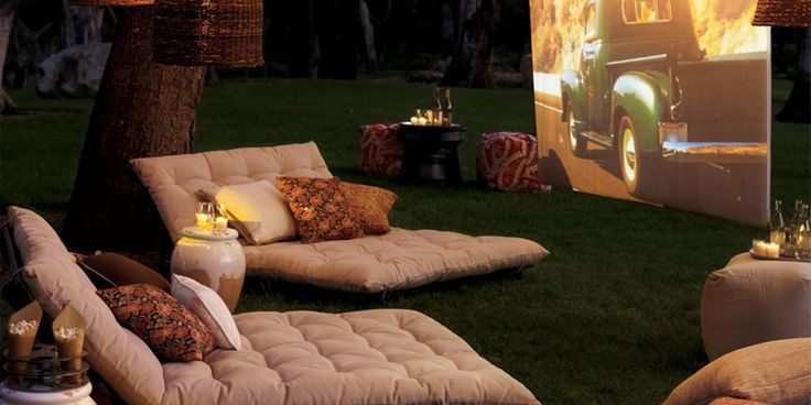 How to Turn Your Backyard into a Summertime Movie Theater