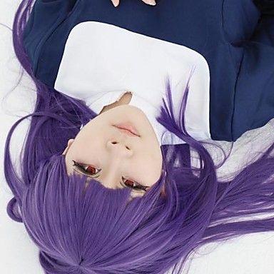 Kara no Kyoukai Fujino asagami violet longue perruque cosplay