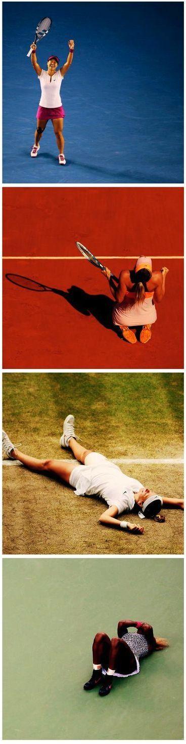 2014 Women's Singles Grand Slam Champions.