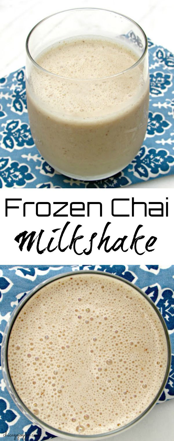"Frozen Chai Milkshake -  This ""milkshake"" smoothie includes only a few ingredients and is perfect for breakfast or a healthy snack on a warm day. 