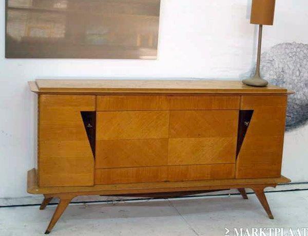 Bijzonder Frans dressoir, design jaren '50