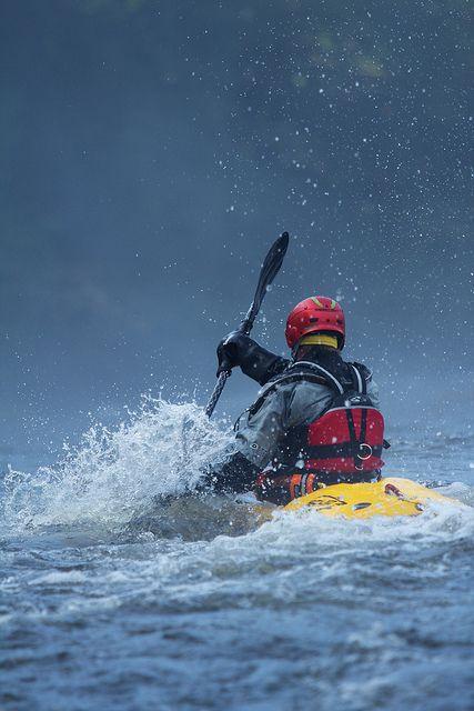 River Usk, Mill Falls near Llangynidr by wongqiying #kayaking