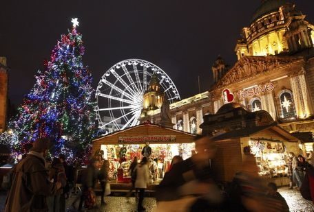 Christmas in Ireland - Christmas Market at Belfast City Hall
