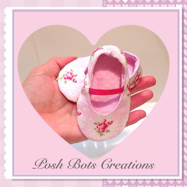 Handmade baby shoes by Posh Bots Creations #handmade #babyshoes #poshbots #tanyawhelan